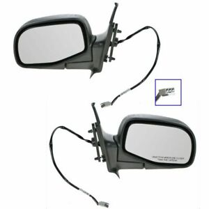 Power Side View Mirrors Folding Textured Pair Set New For Ford Ranger B series