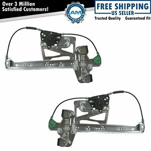 Power Window Regulators Front Pair Set For 00 05 Cadillac Deville