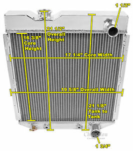 1964 1965 1966 Ford Mustang 2 Row Core Alliant Radiator For V8 Engine