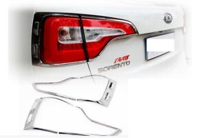 Chrome Tail Light Cover For 2013 2014 Kia Sorento Lamp Cover Free Shipping
