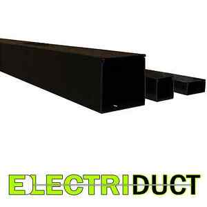 2 X 2 Solid Wall Wire Duct 12 Sticks total Feet 79ft Black Electriduct