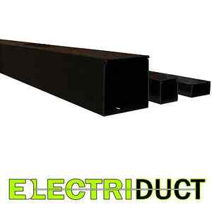 2 X 2 Solid Wall Wire Duct 6 Sticks Total Feet 39ft Black Electriduct