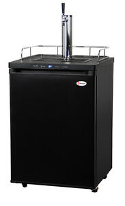 Kegco Digital Homebrew Kegerator Single Faucet Ball Lock Keg Dispenser Black