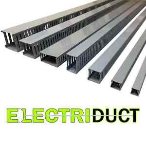2 x2 Open Slot Wire Duct 6 Sticks Total Feet 39ft Gray Electriduct