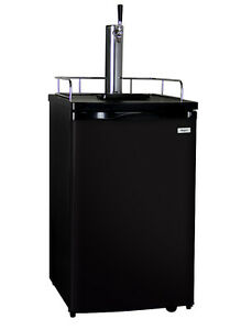 Kegco Full size Homebrew Kegerator Single Tap Ball Lock Keg Dispenser Black