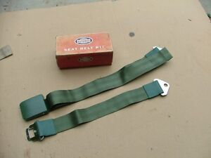 1965 Ford Galaxie Green Seat Belt Assembly Nos