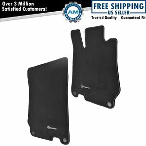Oem Floor Mat Pair Kit Set Of 2 Lh Rh Sides Black Carpet For Mercedes Benz Sl