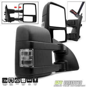 L r 1999 2007 Ford F250 f350 f450 Superduty Power heated smoke Signal Tow Mirror