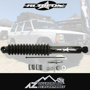 Rubicon Express Steering Stabilizer For 84 06 Jeep Xj Mj Zj Tj Lj Rxt2000b Black
