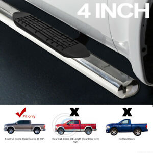 4 Chrome Side Step Nerf Bars Running Boards For 09 10 14 Dodge Ram 1500 Crew