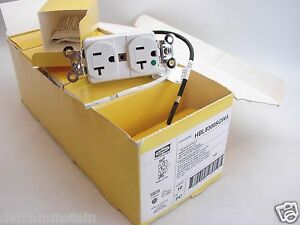 Box Of 10 Hubbell Hbl 8300sgwa 20a 125v Hospital Grade Tamper Proof Outlets B181