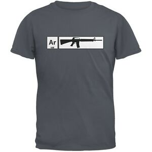 AR15 Element Periodic Table Charcoal Grey Adult T Shirt $17.95