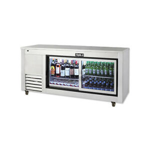 Leader 48 Commercial Back Bar Cooler With Sliding Glass Doors self contained