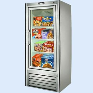 Leader 30 Commercial Freezer Case With Swing Glass Doors self contained