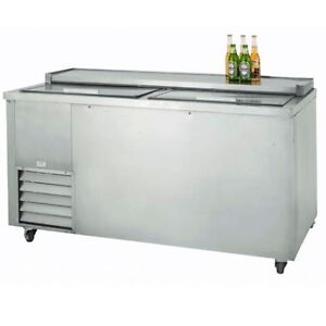 Leader 60 Commercial Refrigerated 2 door Underbar Beer Cooler self contained