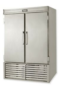 Leader 48 Commercial Refrigerated Solid Door Reach In Freezer self contained