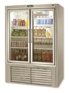 Leader 48 Commercial Refrigerated Soda Case With Swing Doors self contained