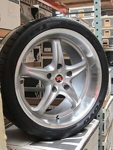 Toyo Proxes T1sport 255 35 19 Tire Roh Driftr Wheels Rims Rim Tires Ford Mustang