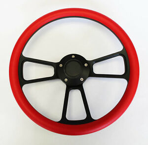 1967 Olds Cutlass 442 Delta Red On Black Steering Wheel 14 Shallow Dish