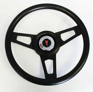 Gto Firebird Lemans Bonneville Grant Black Steering Wheel Black Spokes 13 3 4