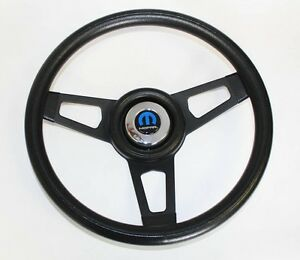 1966 Dodge Charger Grant Black Steering Wheel 13 3 4 With Black Spokes