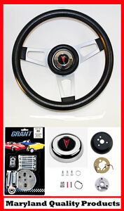 1969 1993 Pontiac Gto Firebird Grant Steering Wheel Black 13 3 4 Shallow Dish