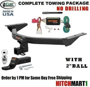Fits 2014 2019 Acura Mdx Class 3 Curt Trailer Hitch Tow Package 2 Ball