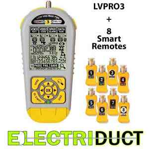 Lvpro3sr Cable Tester For Rj45 Rj11 And Coax Includes Smart Remotes Triplett