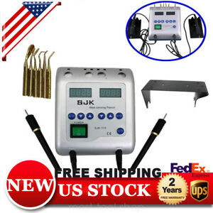 Electric Waxer Carving Pen Pencil Knife Machine Wax Pot Dental Lab Box 6 Tips Us