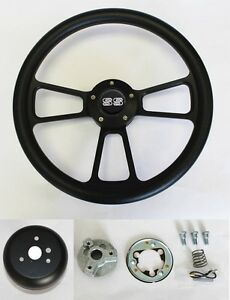 New 1968 Chevrolet Camaro Black On Black Steering Wheel 14 Ss Center Cap