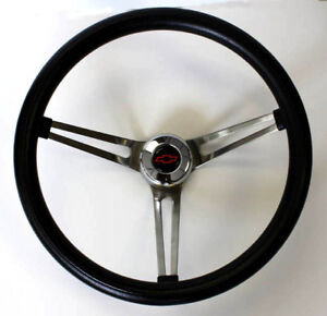Chevrolet Pick Up C10 C20 C30 Blazer Grant Black Steering Wheel Red Blk 15