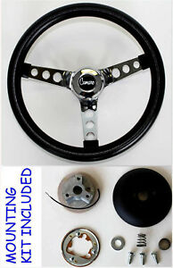 New 1969 1994 Camaro Grant Black And Chrome Steering Wheel 13 1 2 With Horn Kit