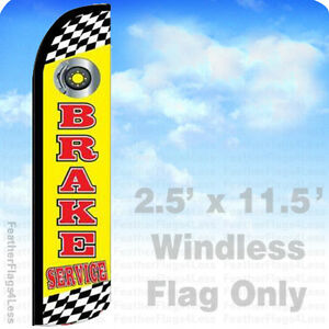 Brake Service Windless Swooper Flag Feather Banner Sign 2 5x11 5 Yz