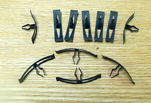 1955 1956 Chevy Firewall Cowl To Hood Weatherstrip Retainer Clips Usa Made