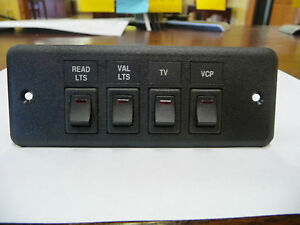 Sup594 08 4 Panel With 4 Spst Toggle Switches