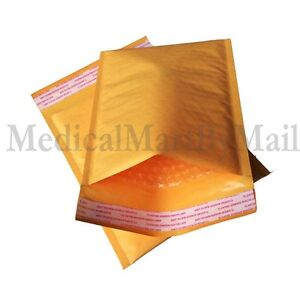 400 Pieces dvd Kraft Bubble Self Seal Padded Envelopes Mailers 7 25 X 9 75
