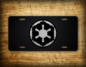 Star Wars License Plate Galactic Empire Emperial Seal Darth Vader Movie Republic
