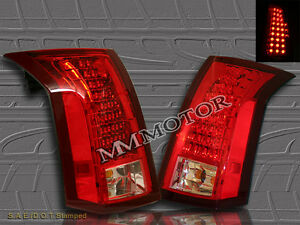 03 07 Cadillac Cts Red Clear Tail Lights Lamps With Led