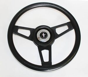 1965 1969 Ford Mustang Grant Black Steering Wheel With Black Spokes 13 3 4