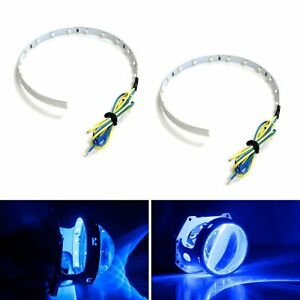 Blue 15 Smd High Power Led Demon Eye Halo Ring Kit For Headlight Projector Lens