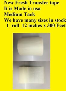 1 Roll 12 X 300 Ft Application Transfer Tape Vinyl Signs Adhesive Paper