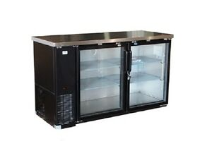 Alamo Xubb60 61 15 8cf 2 door Back bar Refrigerator Glass Beer Bottle Cooler