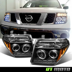 For 2005 2008 Frontier 05 07 Pathfinder Led Halo Projector Headlights Left Right