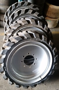 4 tires With Wheels Solid 31x10 20 10 16 5 Skid steer Loader Tire 311020