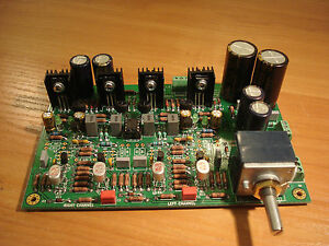 Preamplifier headamp With Jfet Frontend diamond Buffer Output Fully Populated
