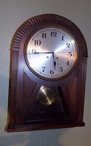 Antique Lfs Furtw Ngler S Hne Bim Bam Wall Clock Germany Working Large
