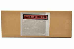 9000 Packing List Slip Holders Enclosed Pouch 4 1 2 X 6 Back Side Load