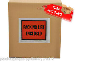 8000 4 5 X 5 5 Packing List Slip Enclosed Stickers 4 5 X 5 5 Full Face