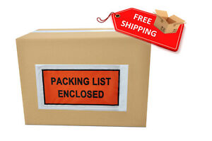9000 Packing List Slip Holders Enclosed Pouch 5 1 2 X 10 Back Side Load