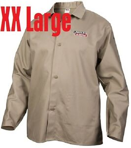 Lincoln Electric Xx large Khaki Flame resistant Cloth Welding Jacket Shirt Xxl